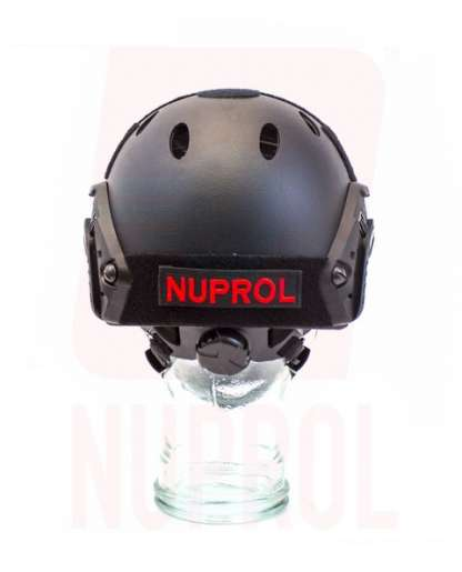 Nuprol black helmet (rear)