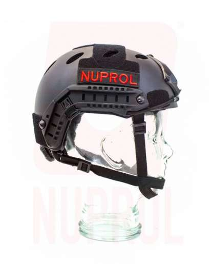 Nuprol black helmet (side)