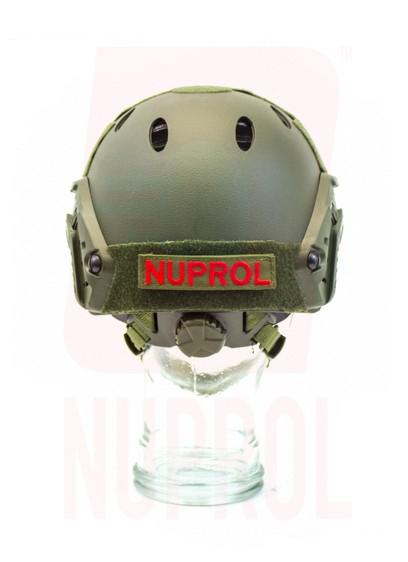 Nuprol olive helmet (rear)