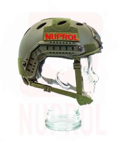 Nuprol olive helmet (side)