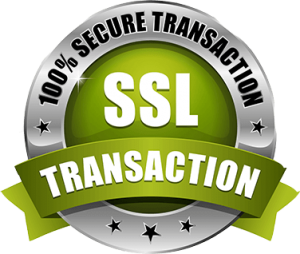 100% Secure Transaction SSL - badge