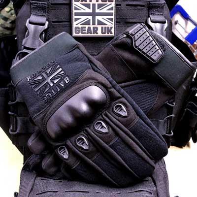 Battle Gear UK Black Combat Gloves