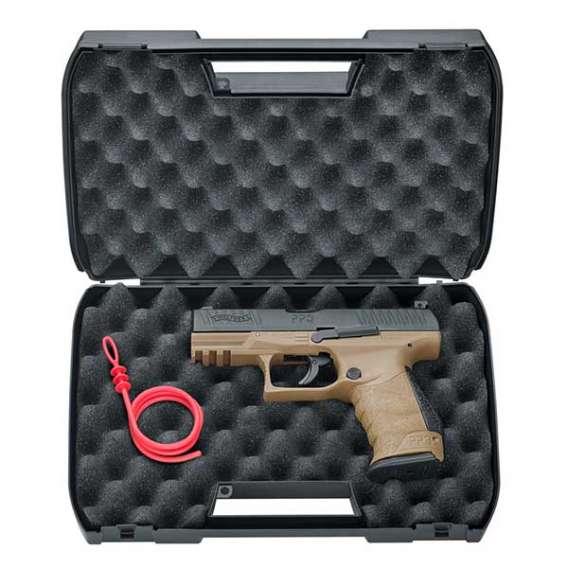 Umarex Walther PPQ M2 T4E Tan Pistol in case