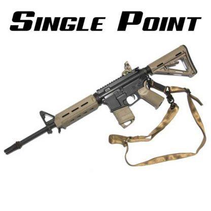 Single point rifle sling