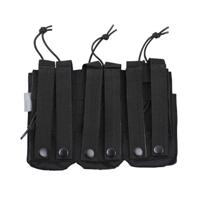 KombatUK triple mag pouch in black - rear