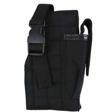 KombatUK Gun Holster with Mag Pouch - Molle - Black