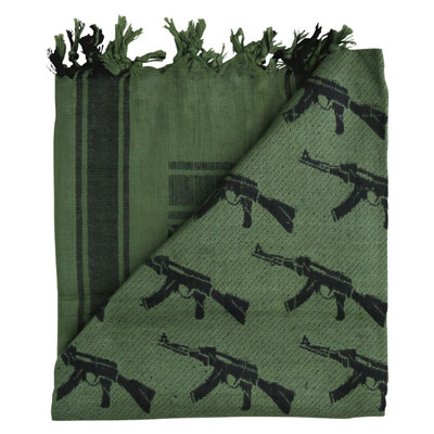 KombatUK Shemagh - Gun Olive Green (folded square)