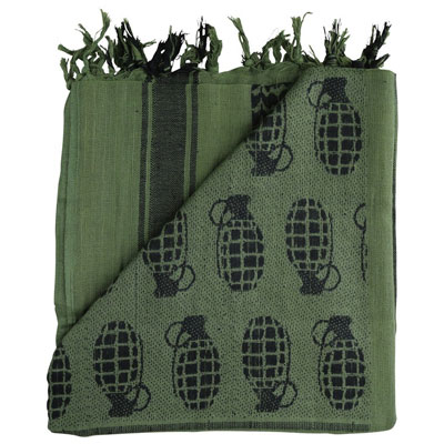 KombatUK Shemagh - Grenade Olive Green (folded square)