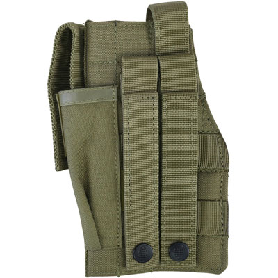 KombatUK Gun Holster with Mag Pouch - Molle - Coyote (back)
