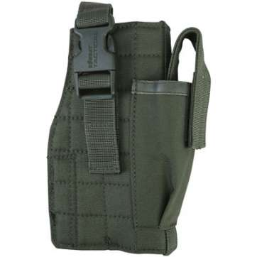 KombatUK Gun Holster with Mag Pouch - Molle - Olive Green