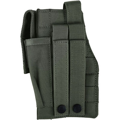 KombatUK Gun Holster with Mag Pouch - Molle - Olive Green (back)