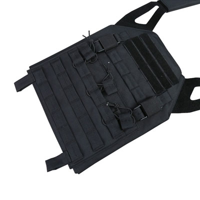 KombatUK buckle-tec plate carrier in black - front