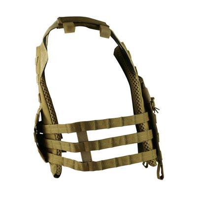 KombatUK buckle-tec plate carrier in coyote - side