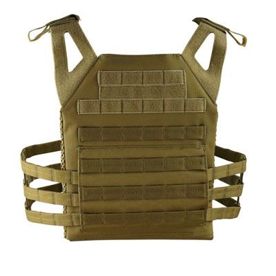 KombatUK buckle-tec plate carrier in coyote - rear
