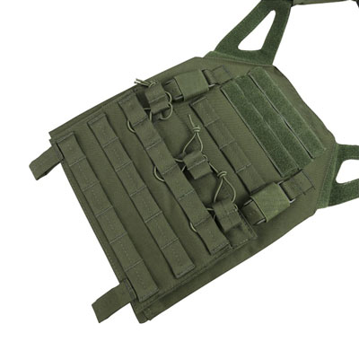 KombatUK buckle-tec plate carrier in olive green - front