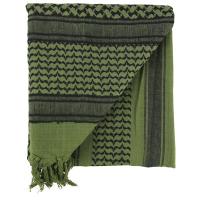 KombatUK Shemagh - Green & Black (folded square)