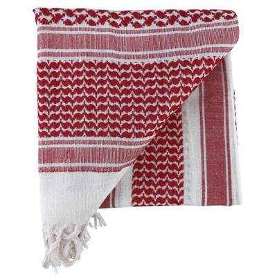 KombatUK Shemagh - Red & White (folded square)