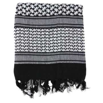 KombatUK Shemagh - Black & White