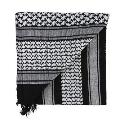 KombatUK Shemagh - Black & White (folded square)