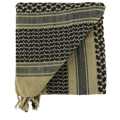 KombatUK Shemagh - Sand & Black (folded square)