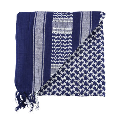 KombatUK Shemagh - Blue & White (folded square)