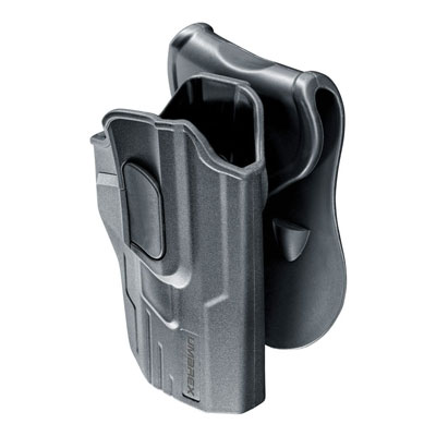 Umarex paddle holster for Smith & Wesson M&P9 side view