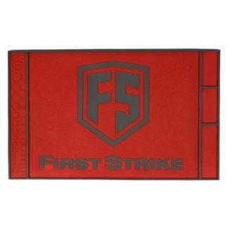 First Strike red & black tech mat