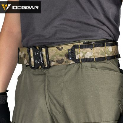 """IDOGear Tactical 2"""" MOLLE Combat belt fitted"""
